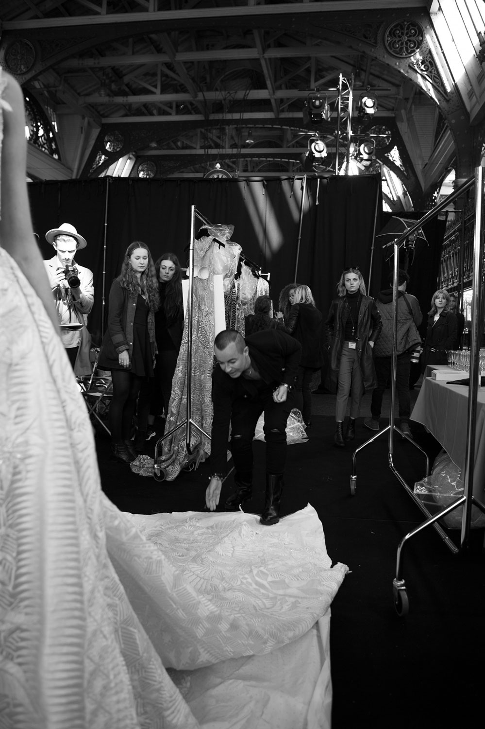 Julien Macdonald Spring Summer 2016 Backstage